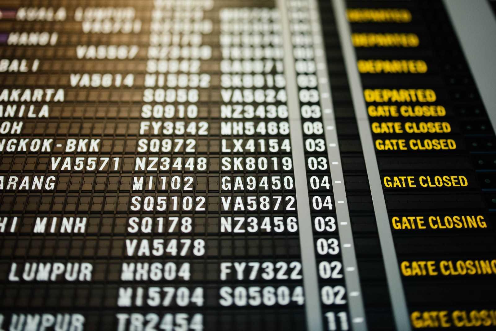 Airport departure board - Visual Management