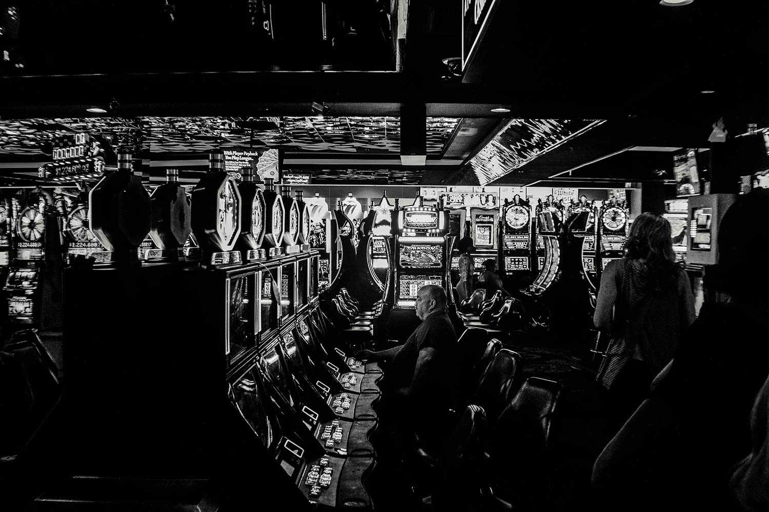Casino in Black and White