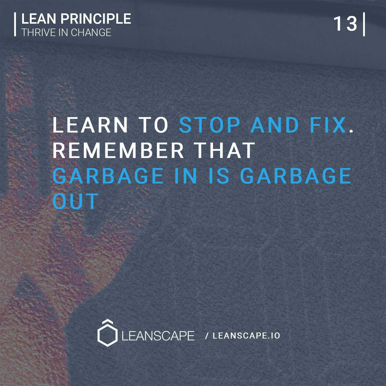 Lean Principle Jidoka